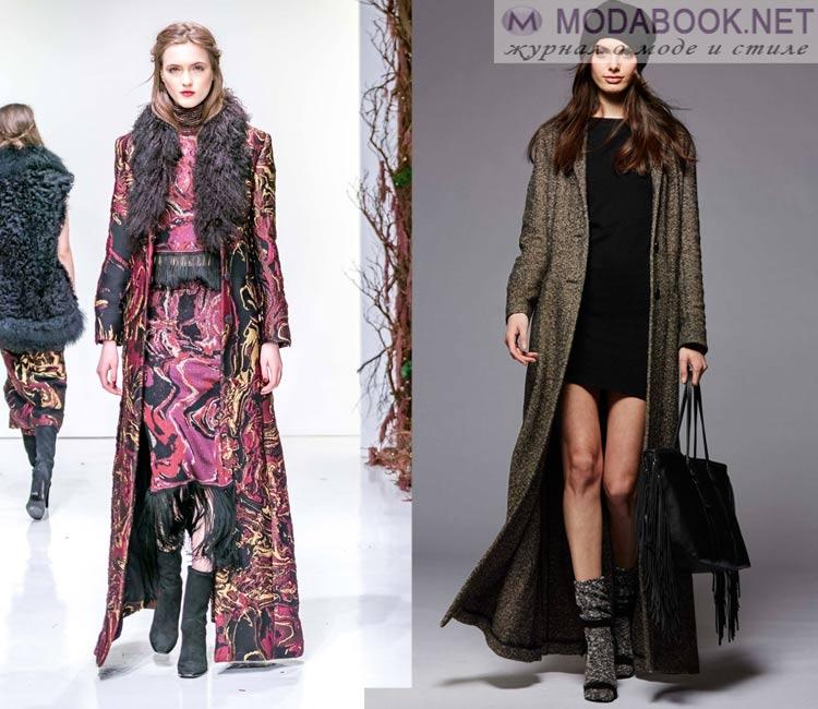 Модные женские пальто осень-зима 2016-2017:  макси