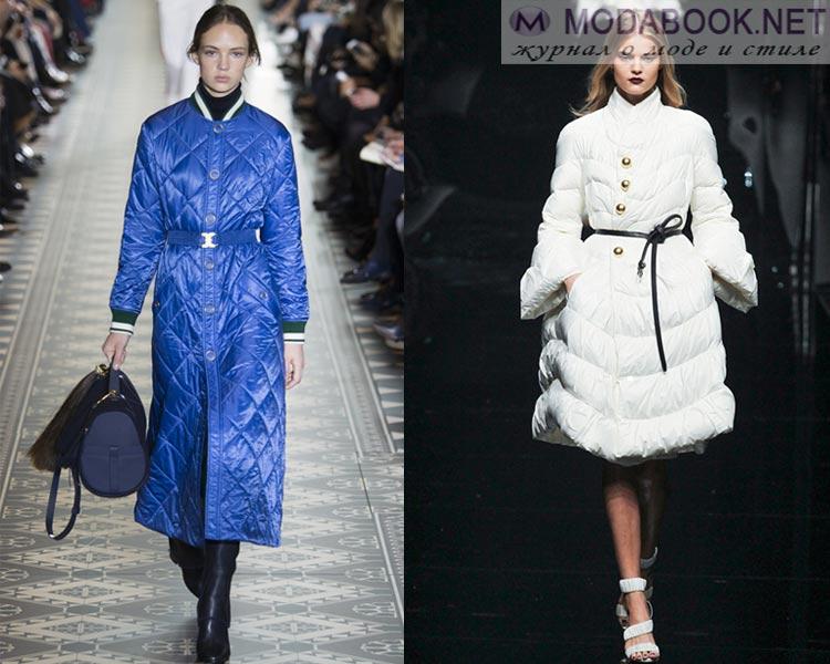 Модные женские пуховики осень - зима 2016 - 2017: пуховик как платье