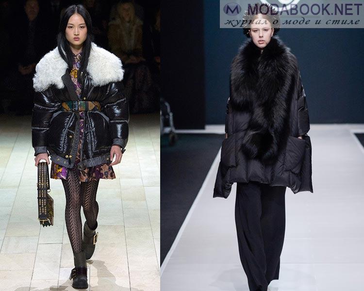 Модные женские пуховики осень - зима 2016 - 2017: меховые