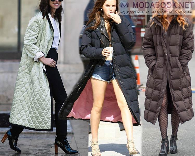 мода зима 2016 верхняя одежда  женская