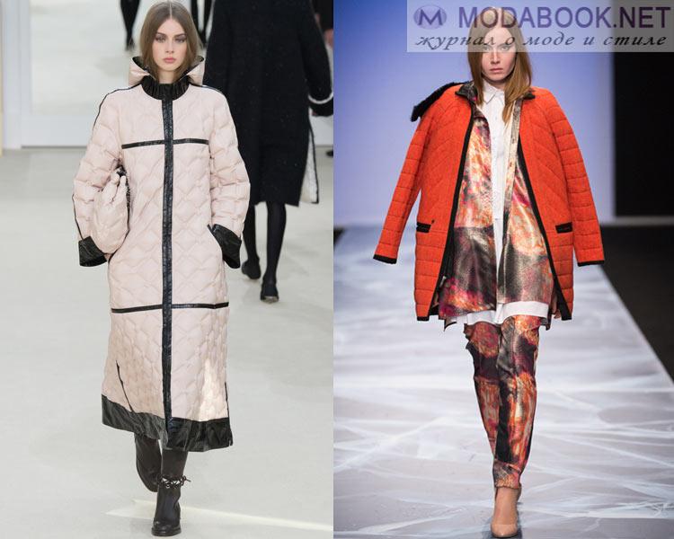 Модные женские пуховики осень - зима 2016 - 2017: стеганые