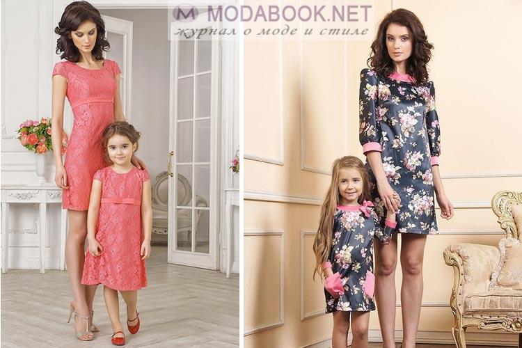 Одинаковые платья для дочек и мам