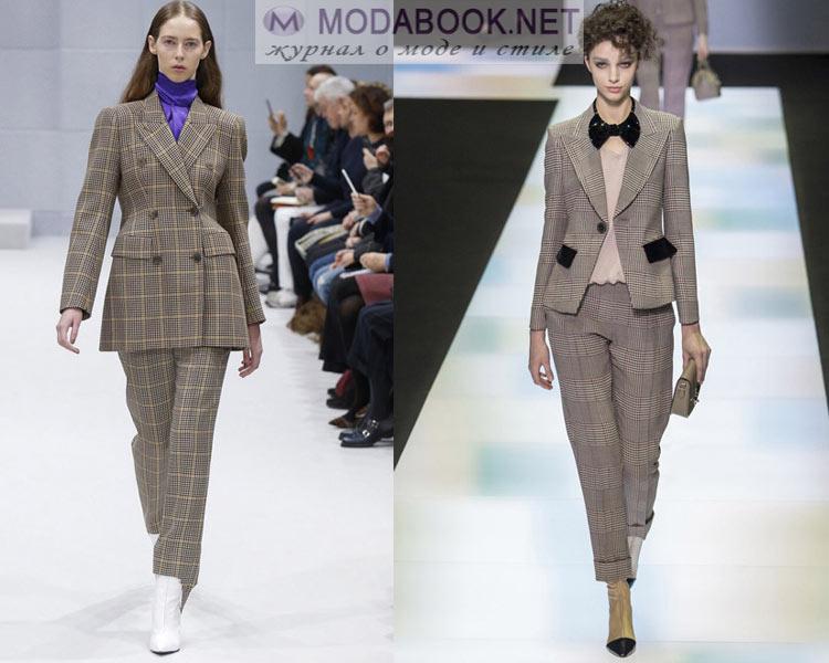 Модные офисные брючные костюмы осень - зима 2016-2017