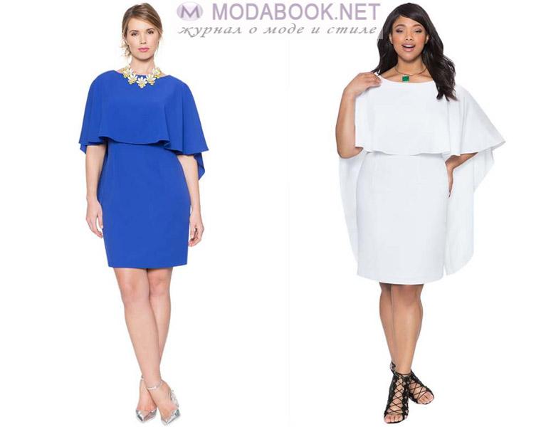 Модные платья для полных девушек: цельнокроенные модели