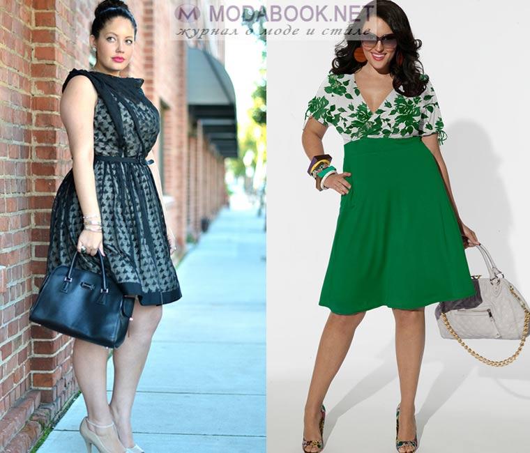 a461c2beee8 В подобном наряде любая девушка будет выглядеть идеально. Платье А-силуэта  всегда будет в моде для полных женщин.