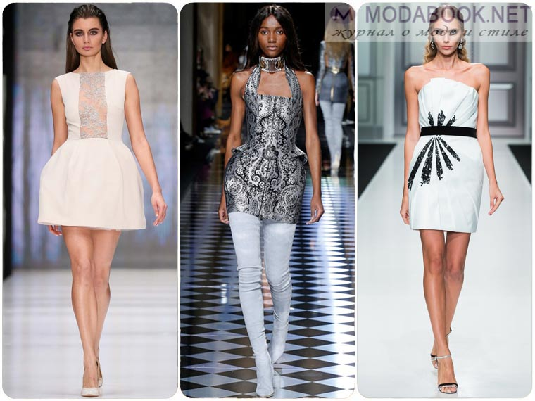 Модные мини платья на Новый год 2018