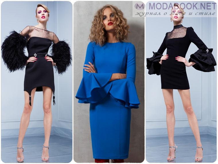 Модные платья на Новый год 2018 с рукавами