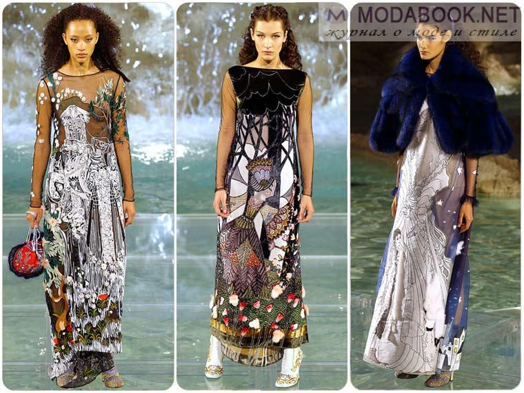 Модные платья на Новый год 2018 в этно стиле