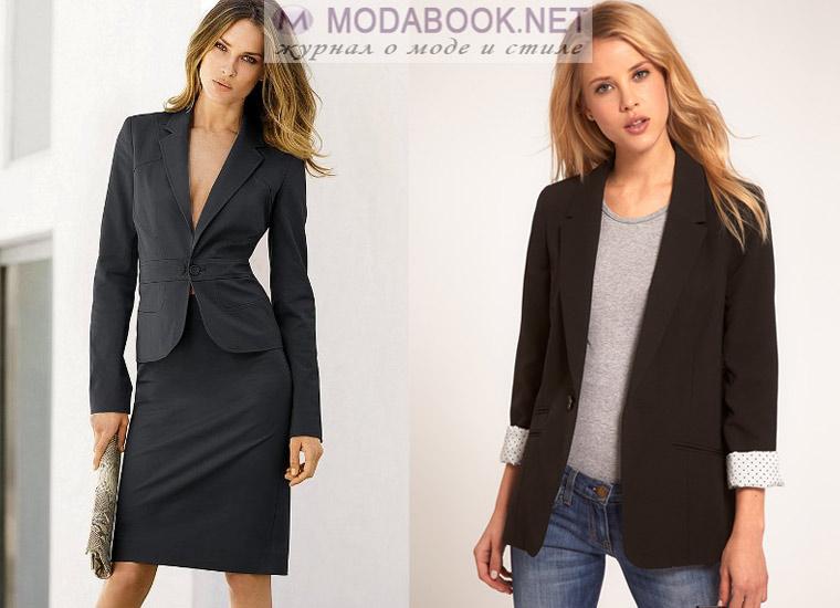 Классический женский пиджак: приталенный и свободный
