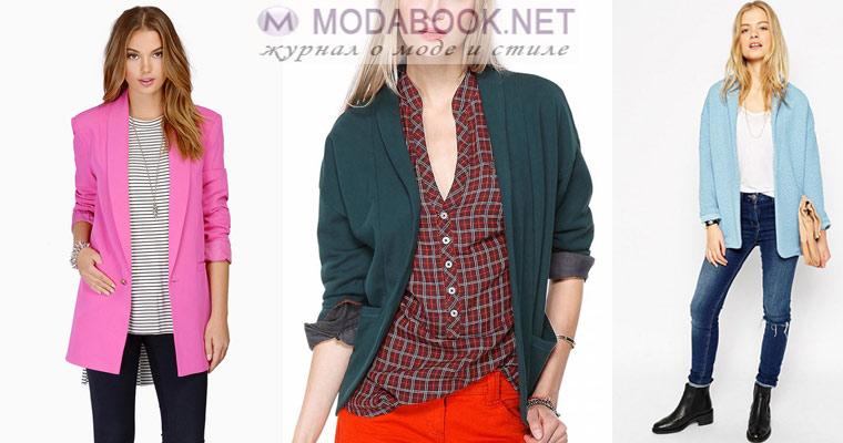 Женский пиджак в стиле кэжуал
