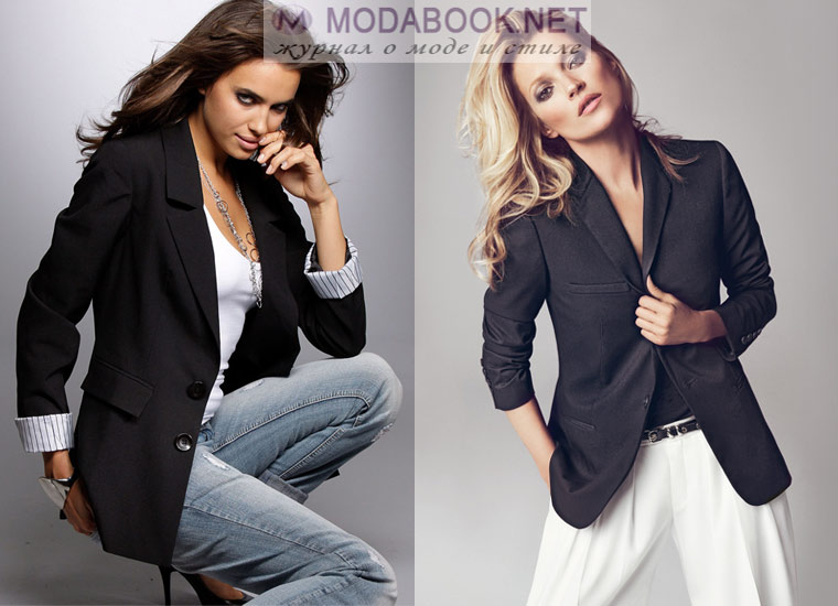 Модный женский пиджак в мужском стиле