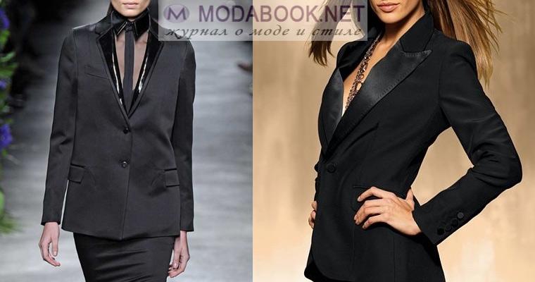 Модный женский пиджак: смокинг