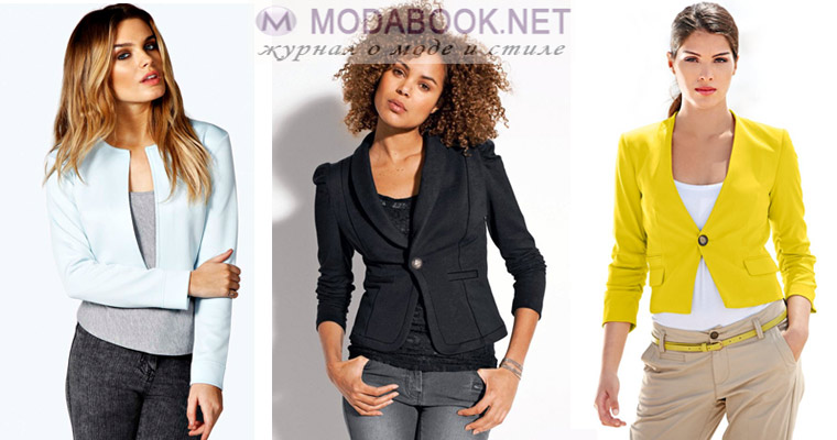 Модный женский пиджак: спенсер