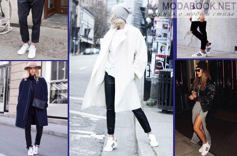 Белые кожаные кроссовки от Chanel