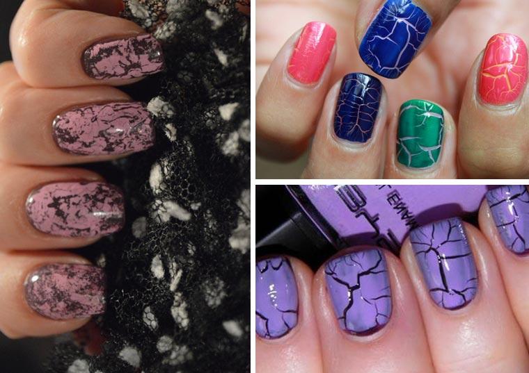 Дизайн ногтей с эффектом кракелюр