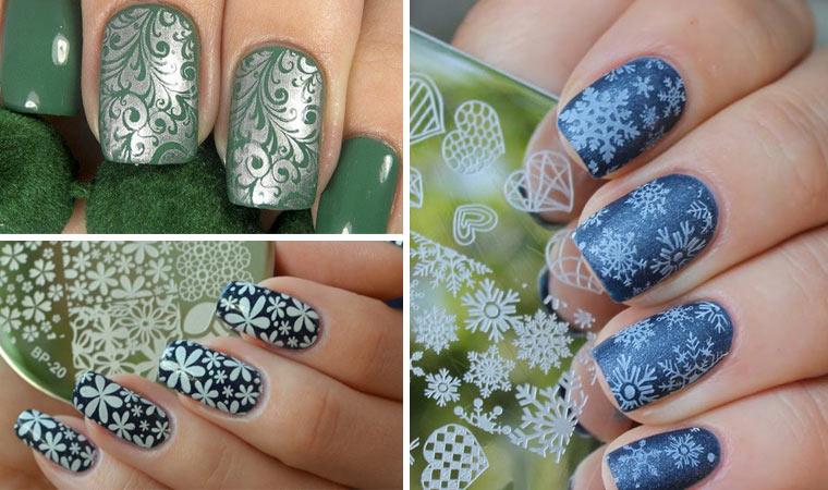 Дизайн ногтей: Стемпинг маникюр