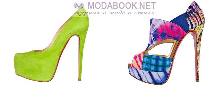Разноцветные туфли Лабутены