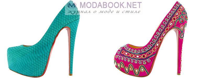 Разноцветные модели туфель Лабутены
