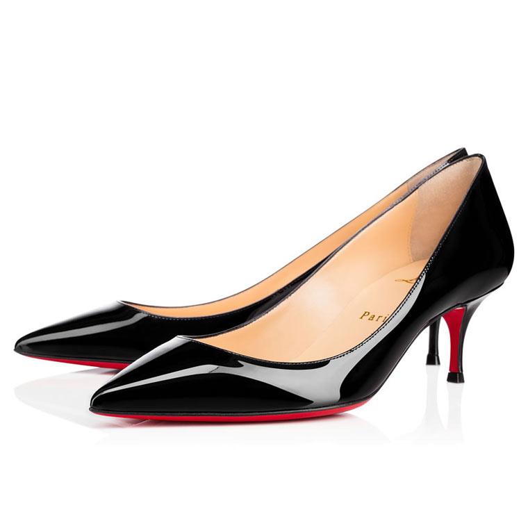 Туфли лабутены на среднем каблуке
