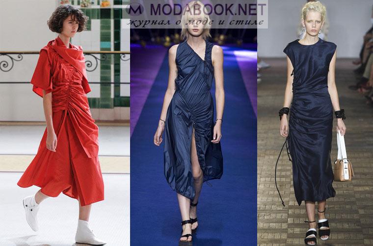 Модные рюши и драпировки весной и летом 2018