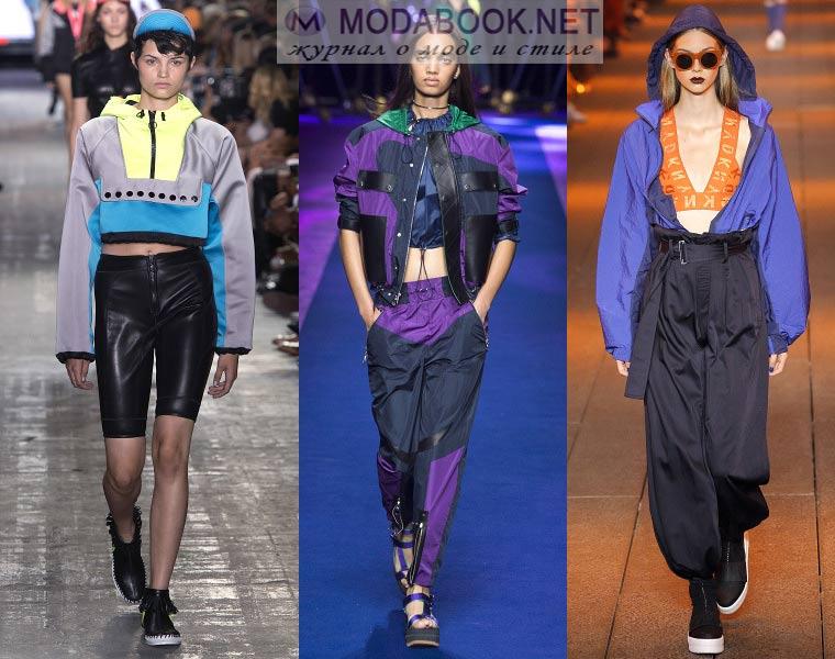 Модный спорт стиль весна лето 2018