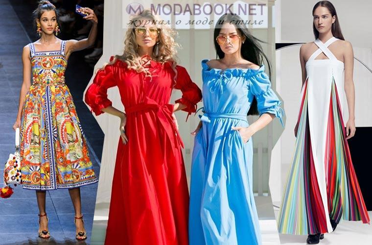 Модные сарафаны 2018