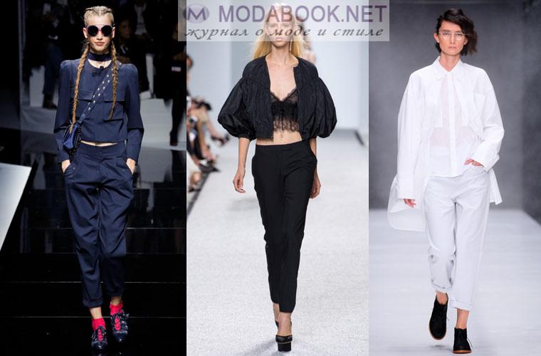 Модные брюки весна лето 2018
