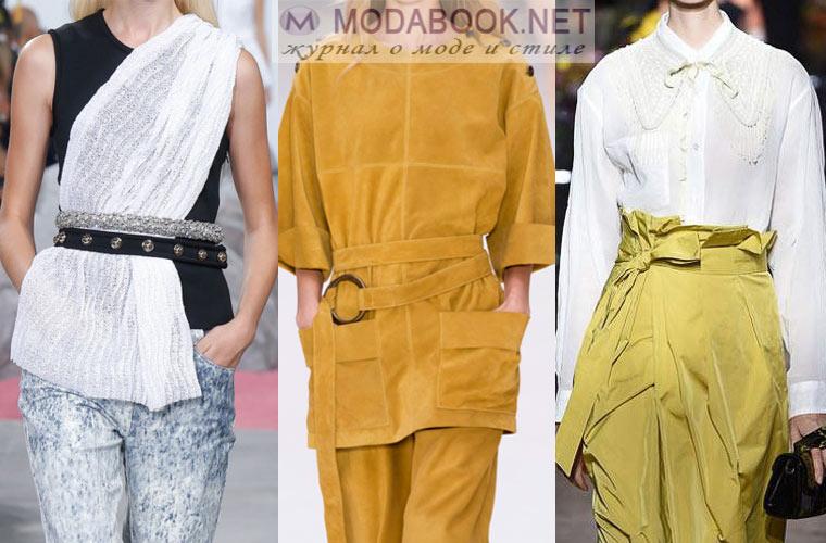 Модные ремни и пояса в сезоне весна 2018