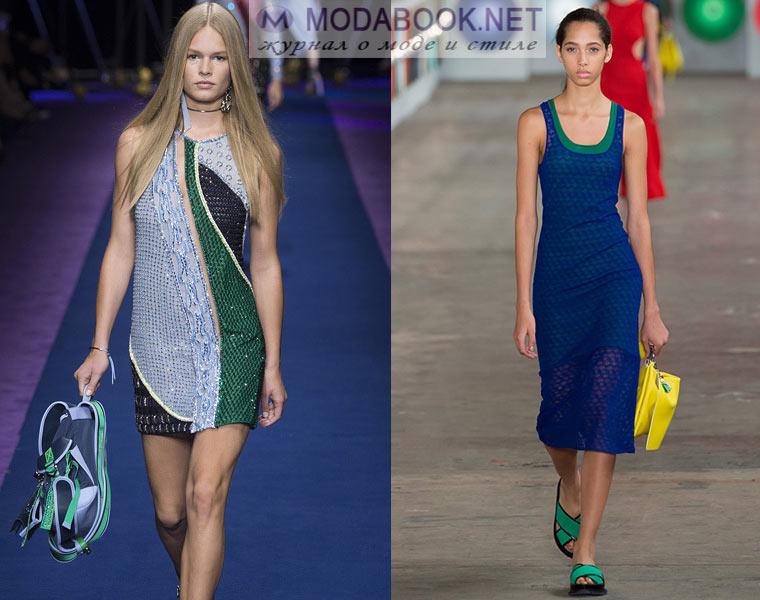 Мода весна-лето 2018: голубой с синим