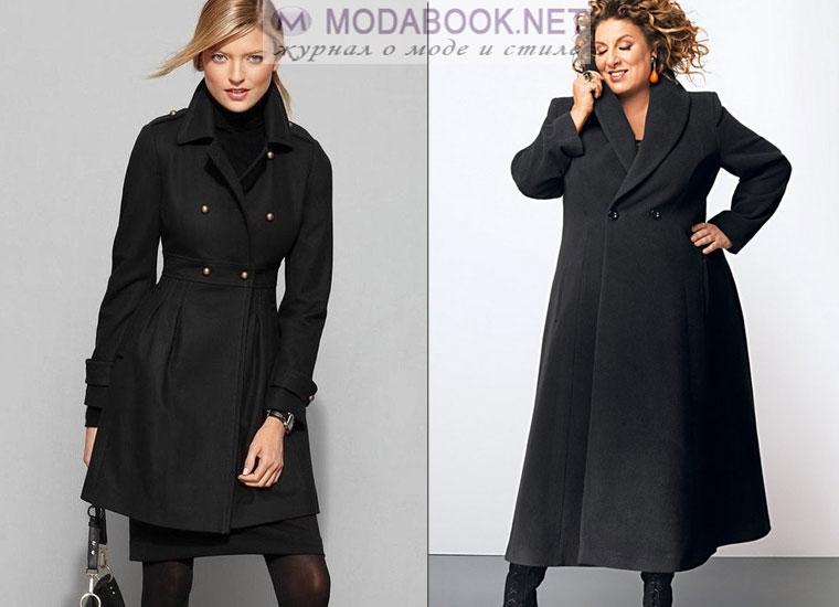 Пальто с завышенной талией