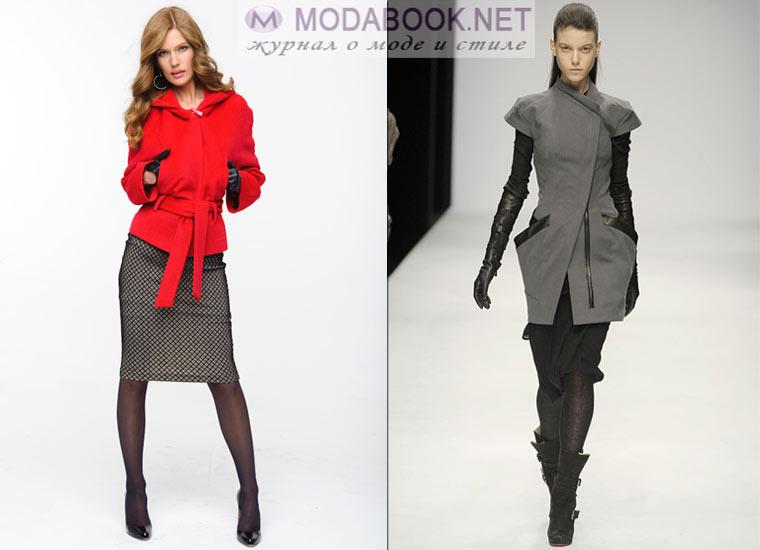 Короткое женское пальто