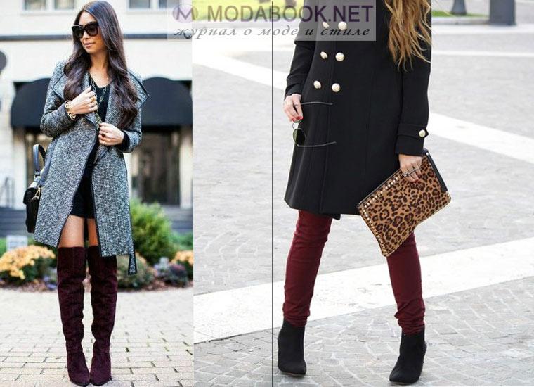 Как подобрать обувь под женское пальто