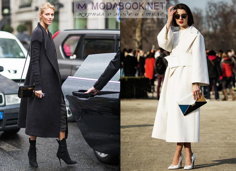 Как сочетать длинное пальто и обувь на каблуке
