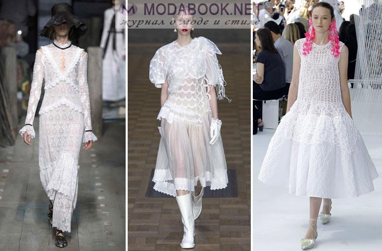 Белое летнее платье 2017