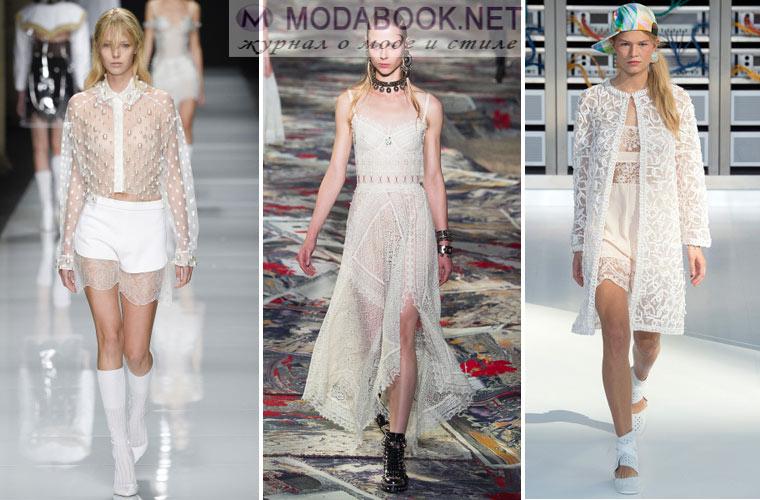 Модное белое летнее платье 2017