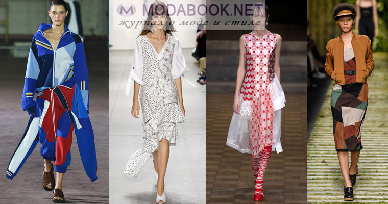 Модный стиль  пэчворк в одежде весна лето 2017