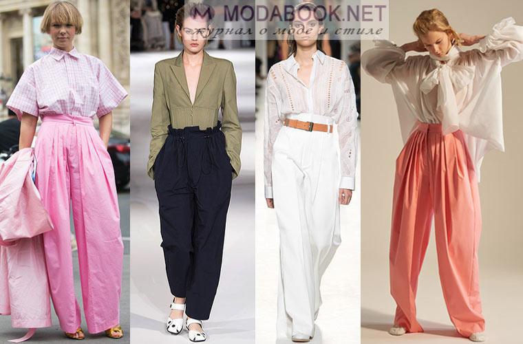 Модные брюки-шаровары весной 2017
