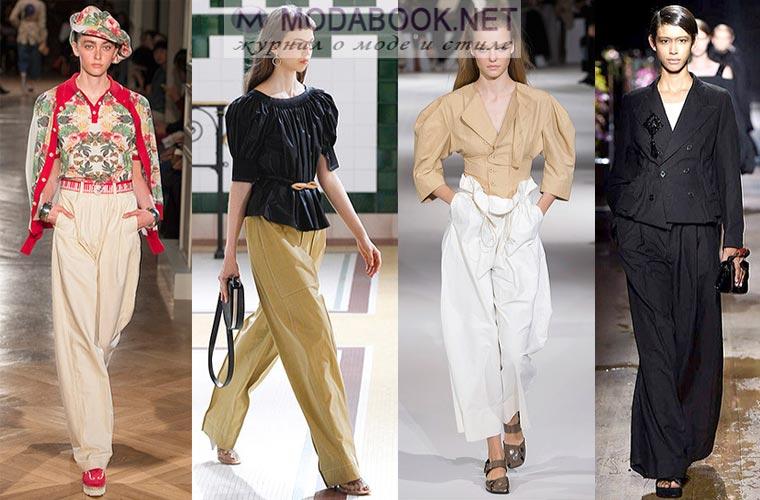 Модные брюки-шаровары весна лето 2017