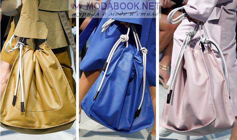 Сумки-мешки будут модны весной летом 2017