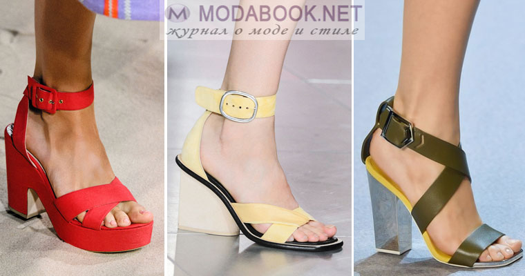 Модная обувь с ремешками сезона весна лето 2017