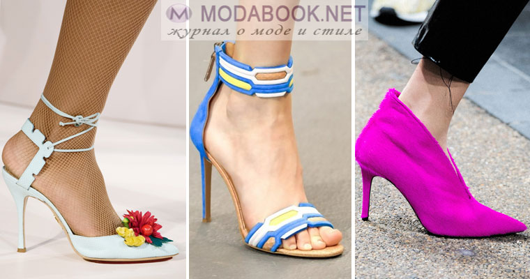 Модная обувь на шпильке весна лето 2017