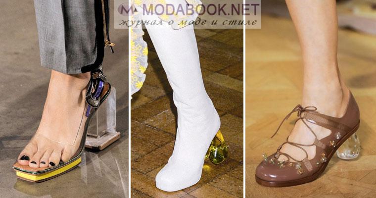 Обувь весна - лето 2017: каблуки оригинальной формы