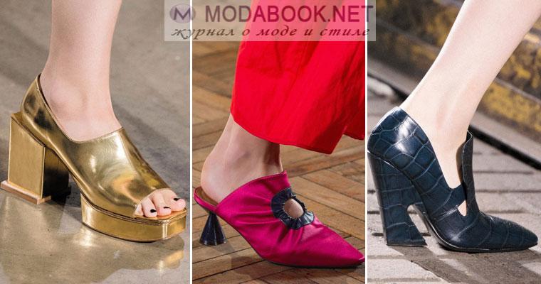 Обувь весна - лето 2017 на необычных каблуках