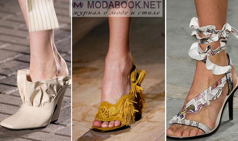 Модная обувь с воланами весна лето 2017