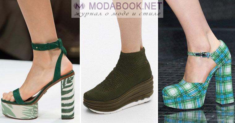 Модная обувь на платформе на сезон весна лето 2017
