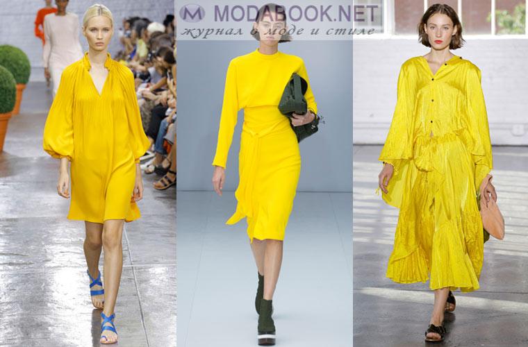 Желтые платья 2017