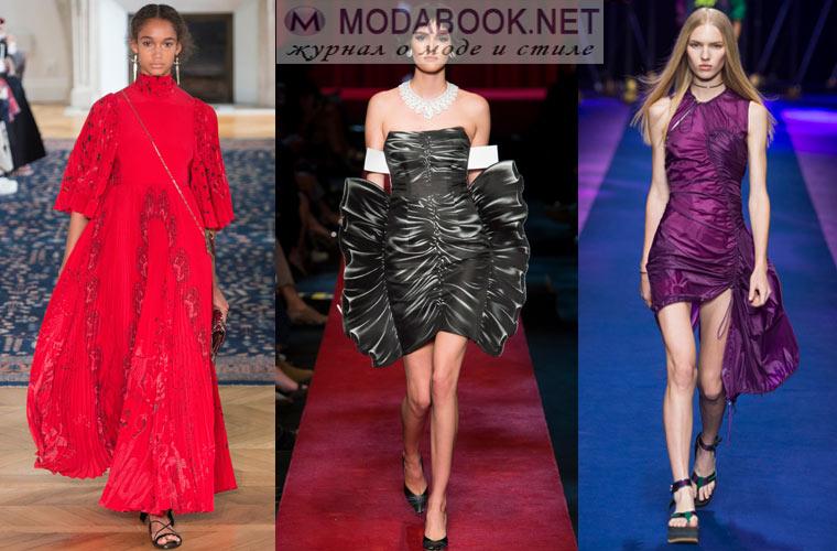 Модные фасоны платьев весна лето 2017
