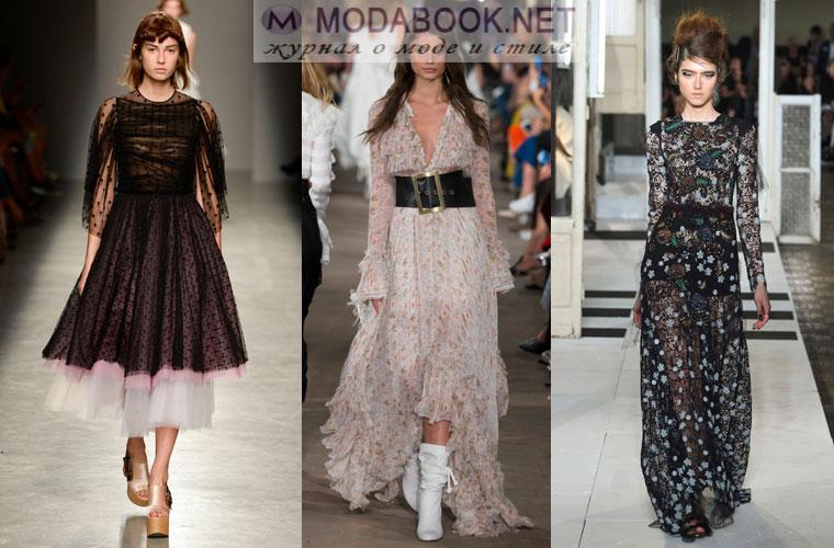 Прозрачные летние платья 2017