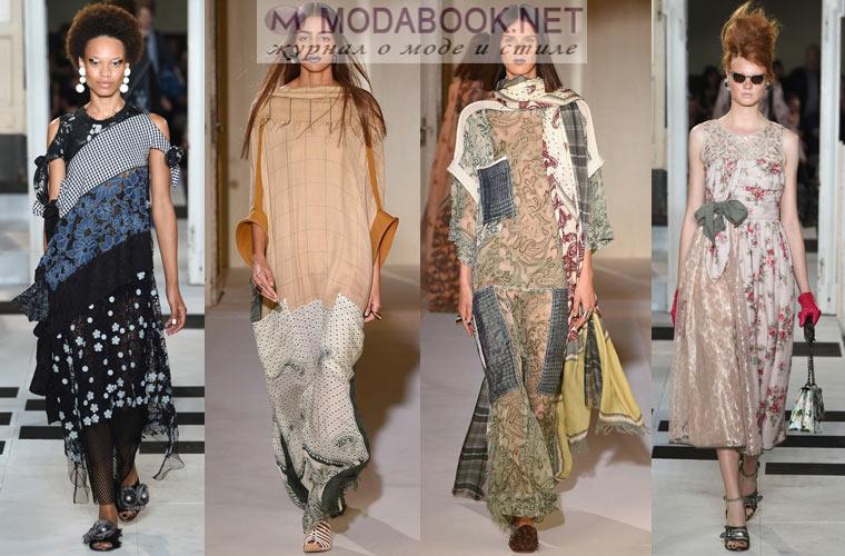 Многофактурные платья для весны лета 2017