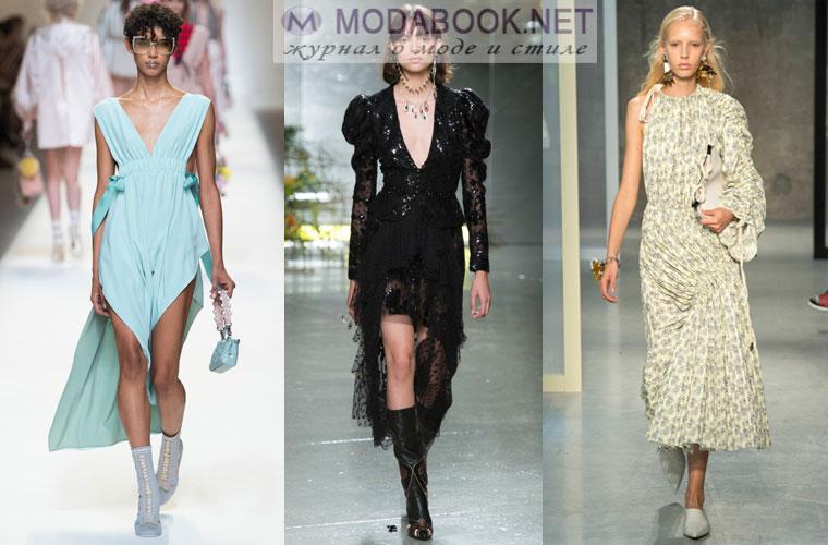 Асимметричные платья весна лето 2017